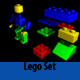 High Poly Lego set
