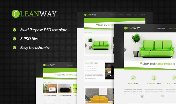 Cleanway - Multipurpose PSD Theme