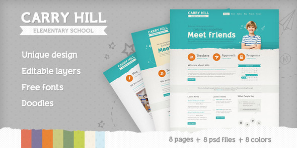 Carry Hill Elementary School - PSD Templates