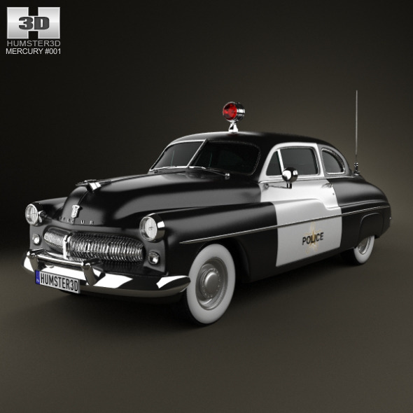 3DOcean Mercury Eight Coupe Police 1949 2188361