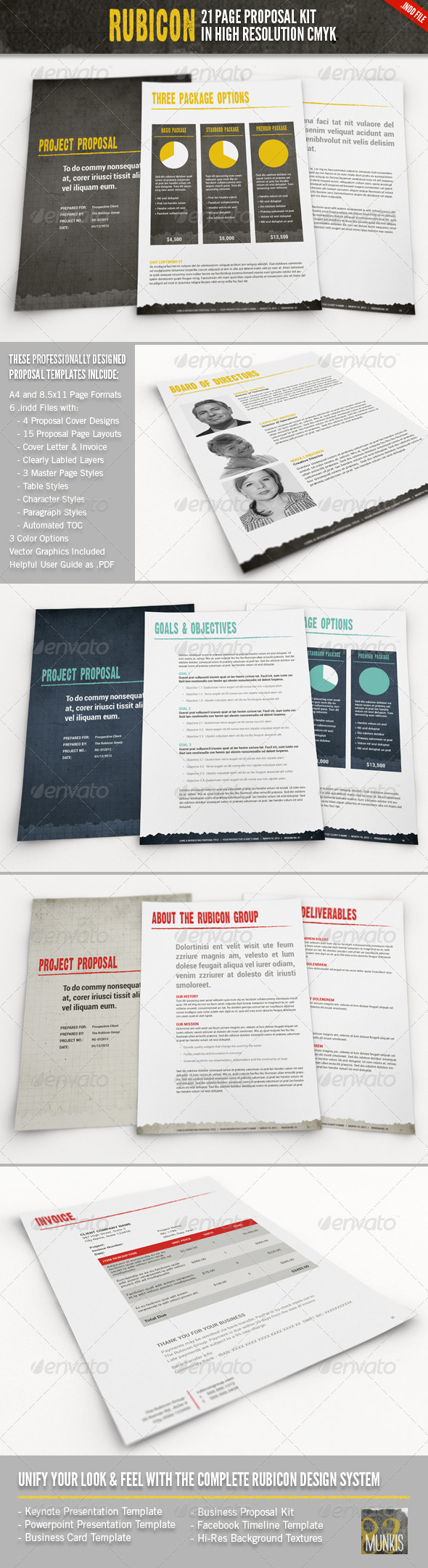 Rubicon Proposal Template Kit - Proposals & Invoices Stationery