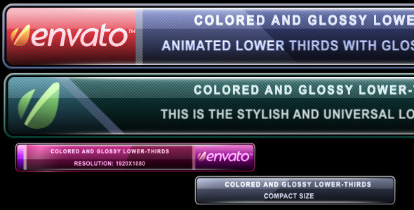 After Effects Project - VideoHive Colored and Glossy Lower-Thirds 248134