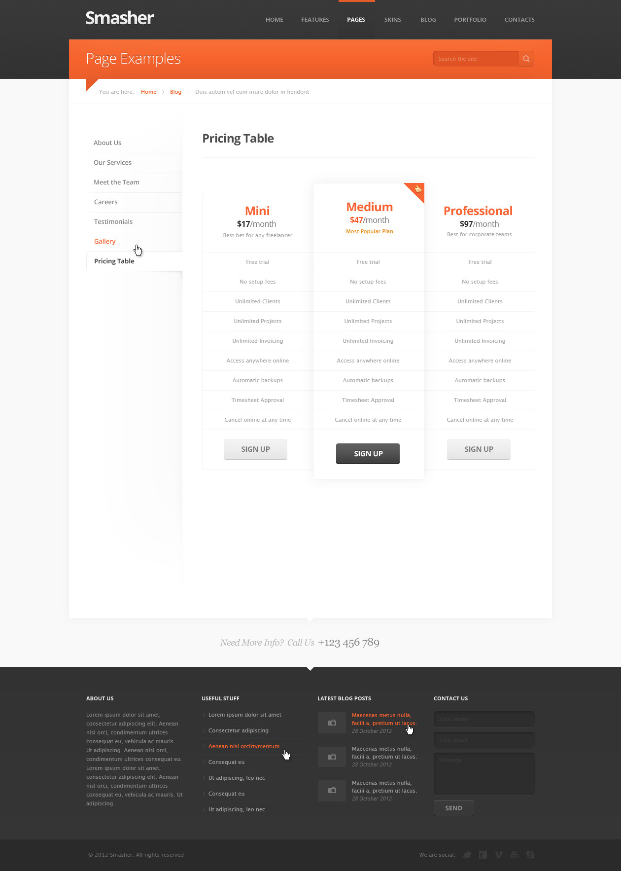 Smasher - Multi Purpose PSD Template
