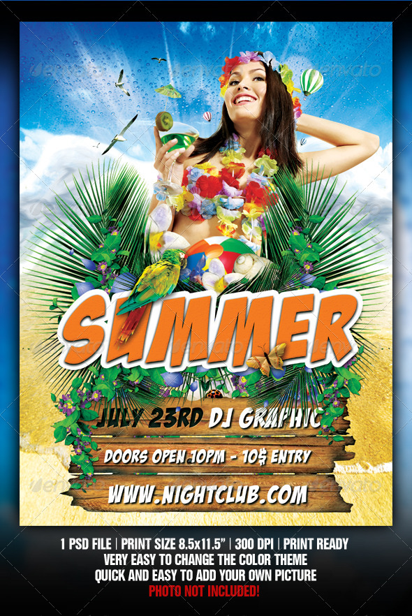 GraphicRiver Beach Party flyer 2190434