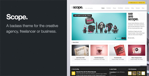 ThemeForest Scope Agency Business WordPress Theme 952938