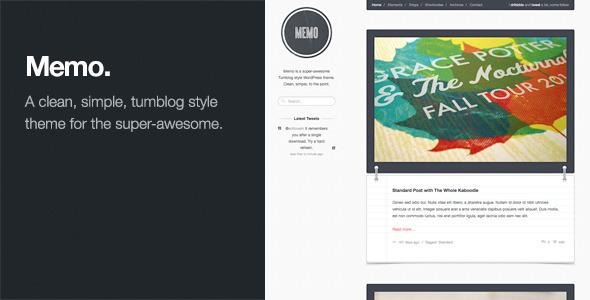 Memo: Tumblog Style WordPress Theme