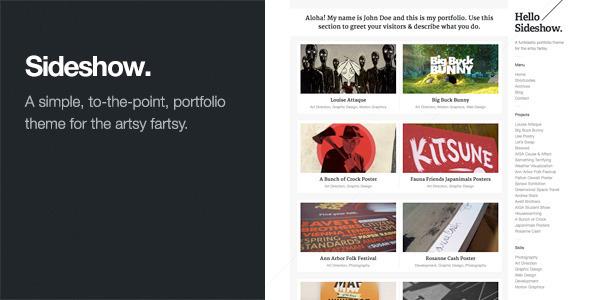 Sideshow: Funktastic Portfolio WordPress Theme