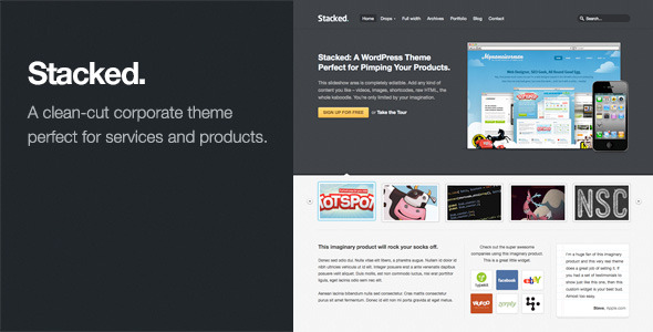Stacked: Business & Portfolio WordPress Theme