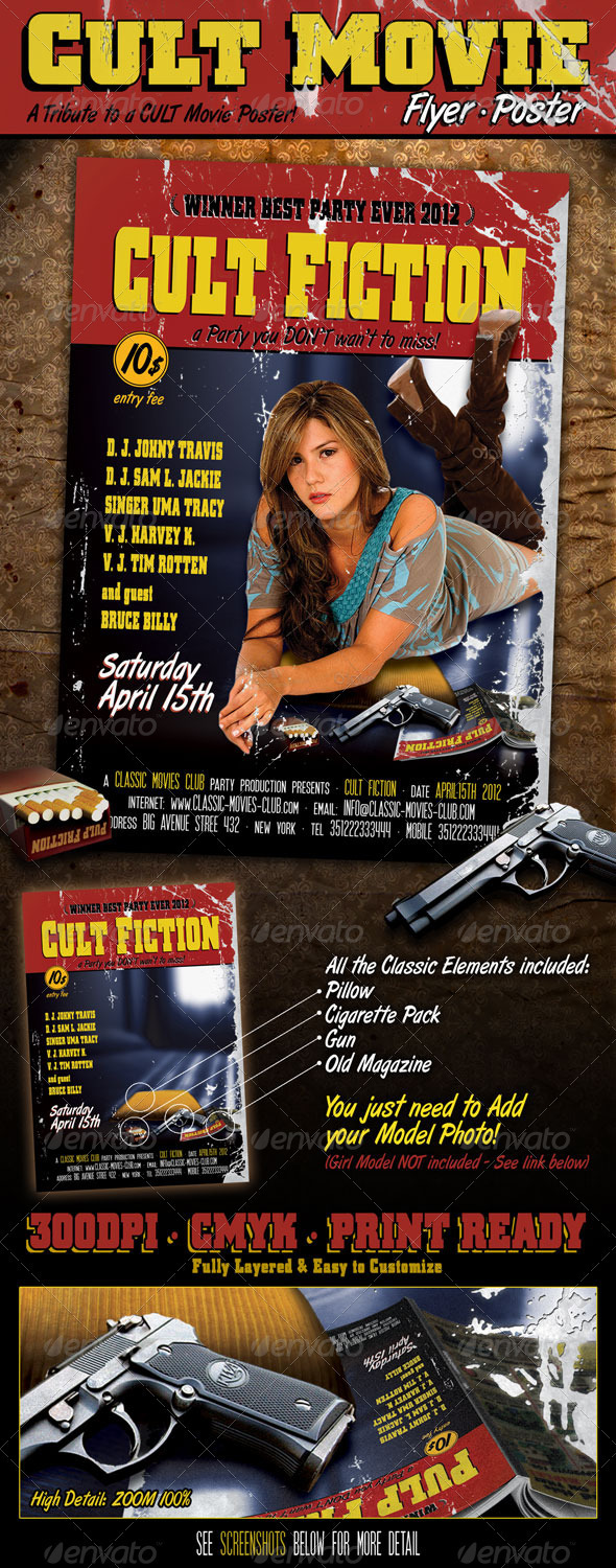 Cult Movie Flyer Poster