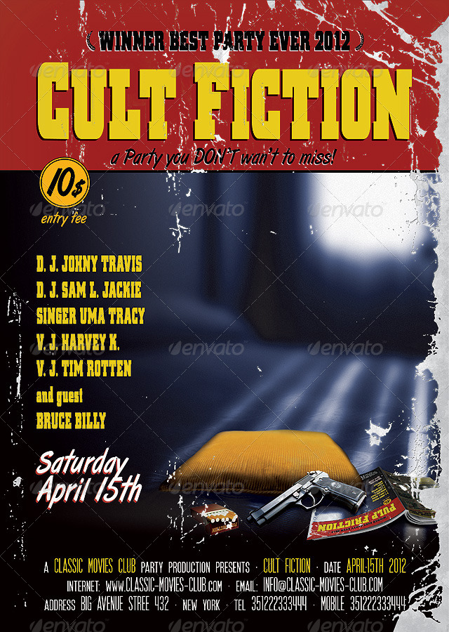 Cult Movie Flyer Poster by PVillage – Movie Flyer