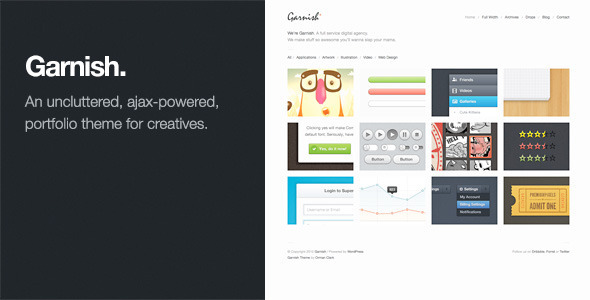 ThemeForest Garnish Clean-Cut WordPress Portfolio Theme 308989