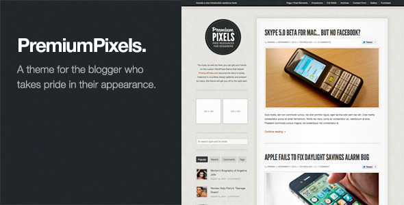ThemeForest Premium Pixels Fancy Pants Blog Magazine Theme 232838