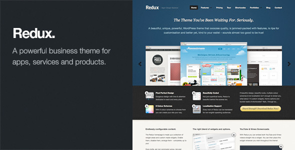 Redux: Business & Portfolio WordPress Theme