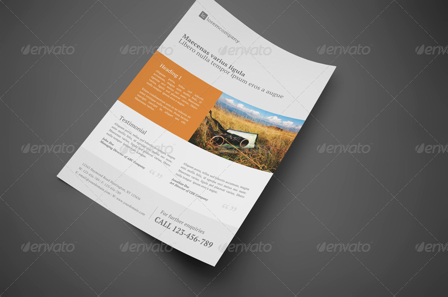 Clean Professional Corporate Flyer by glenngoh – Professional Corporate Flyer