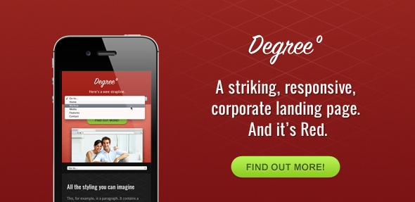 Degree° - A Responsive HTML Theme