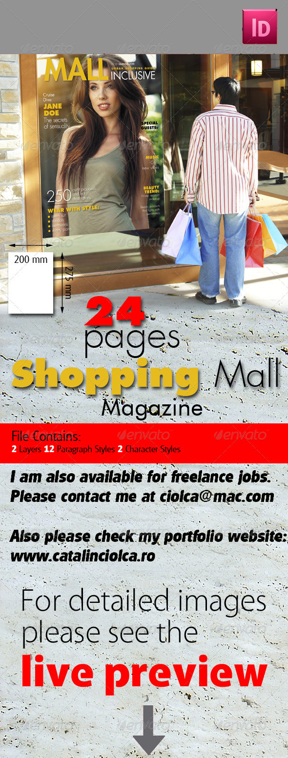 24 Pages Shopping Mall Magazine