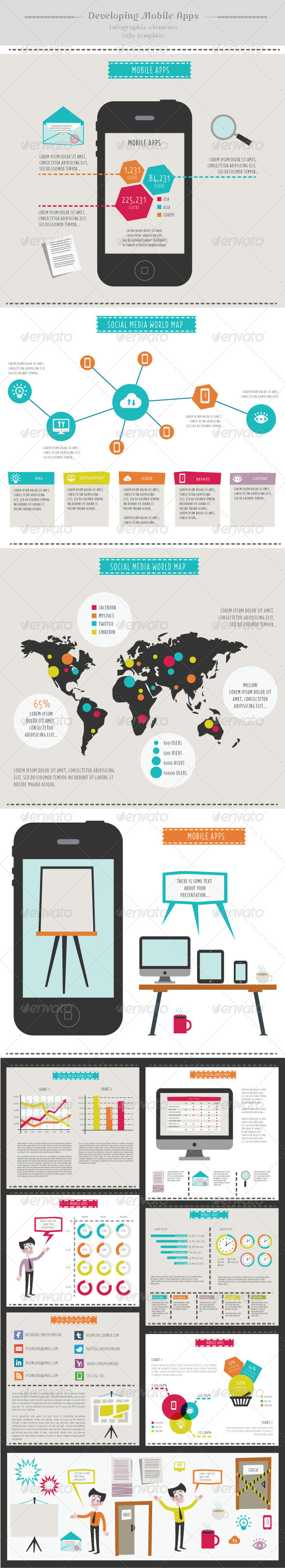 Developing Mobile Apps Infographic Elements In