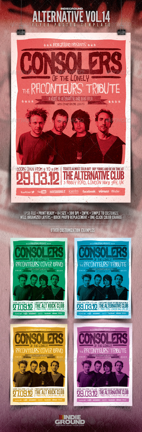 Alternative Flyer/Poster Vol. 14 - Concerts Events