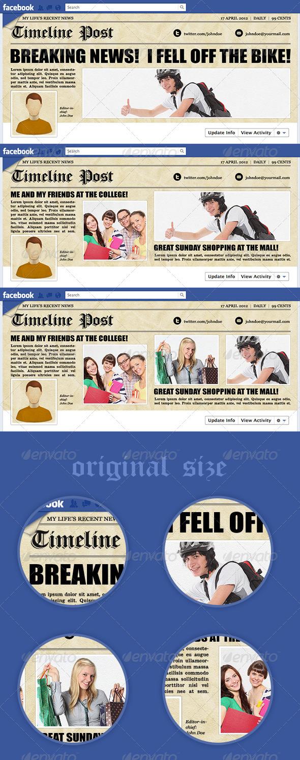 GraphicRiver Newspaper Facebook Timeline 2192309
