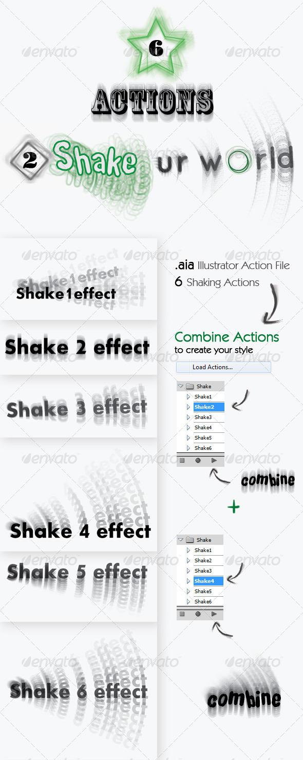 Shake - Illustrator Action - Actions Illustrator