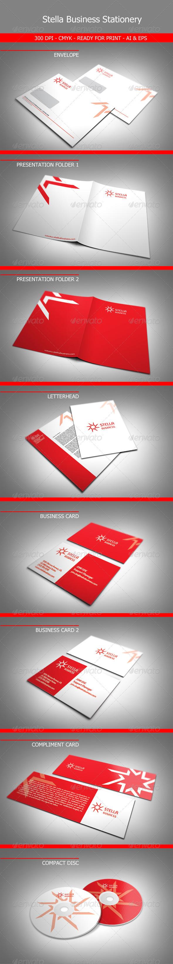 GraphicRiver Stella Business Stationery 2129452