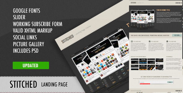ThemeForest Stitched Landing Page Theme 1951810