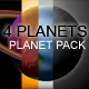4 Vector Planets PACK! - ActiveDen Item for Sale