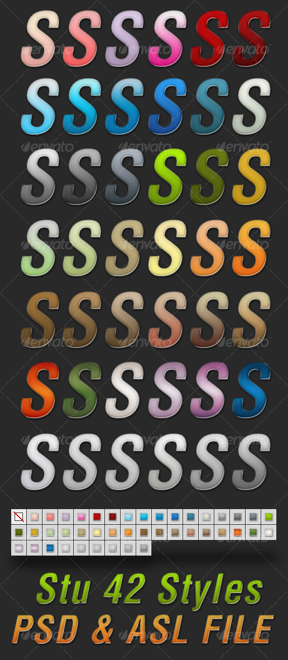 Stu 42 Styles - Text Effects Styles