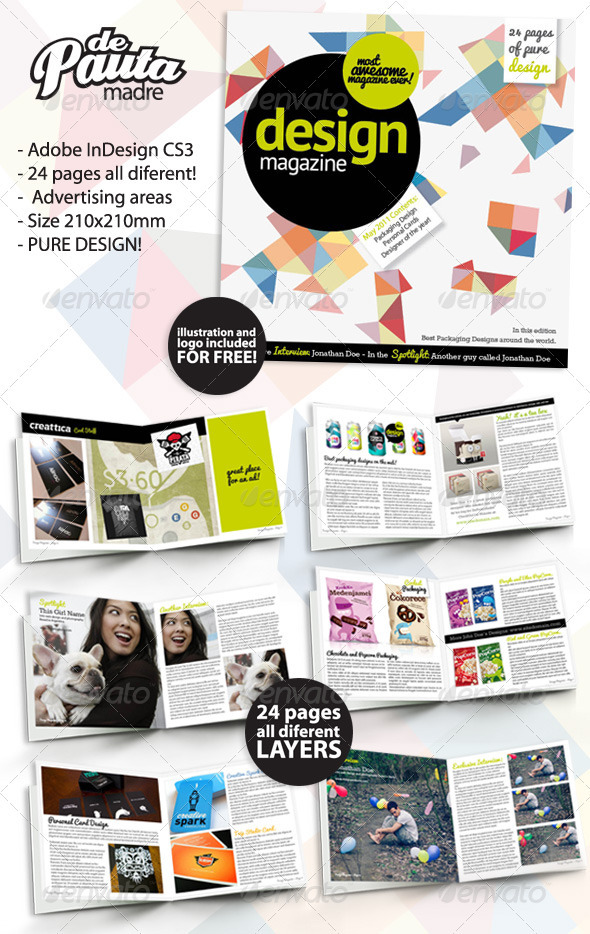 Design Magazine InDesign Template
