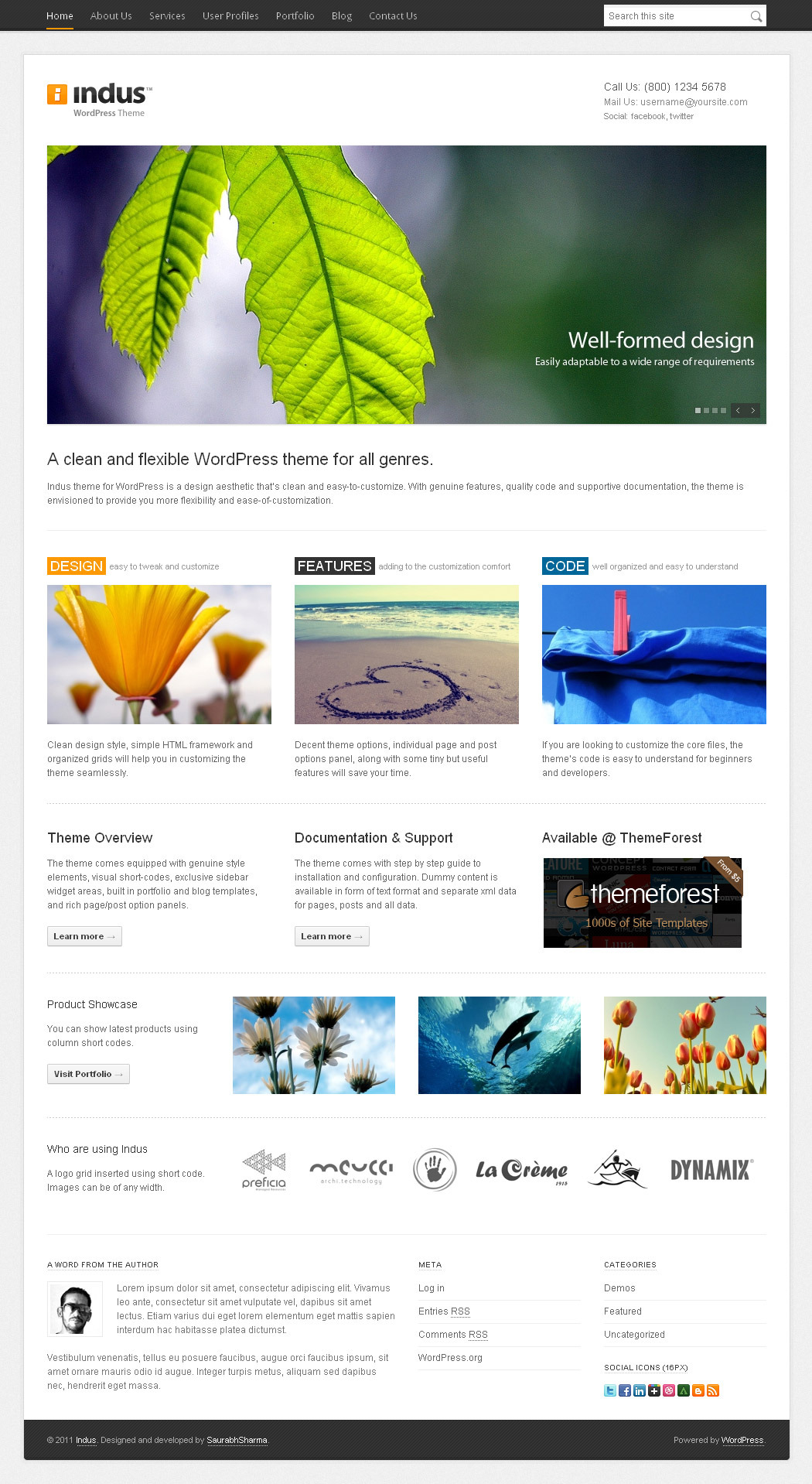 Indus - Corporate Business WordPress Theme