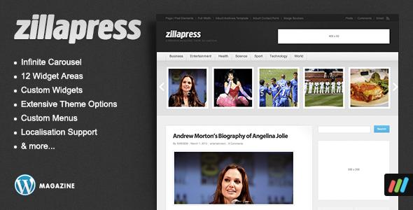 ThemeForest ZillaPress WordPress Magazine Community Theme 120675
