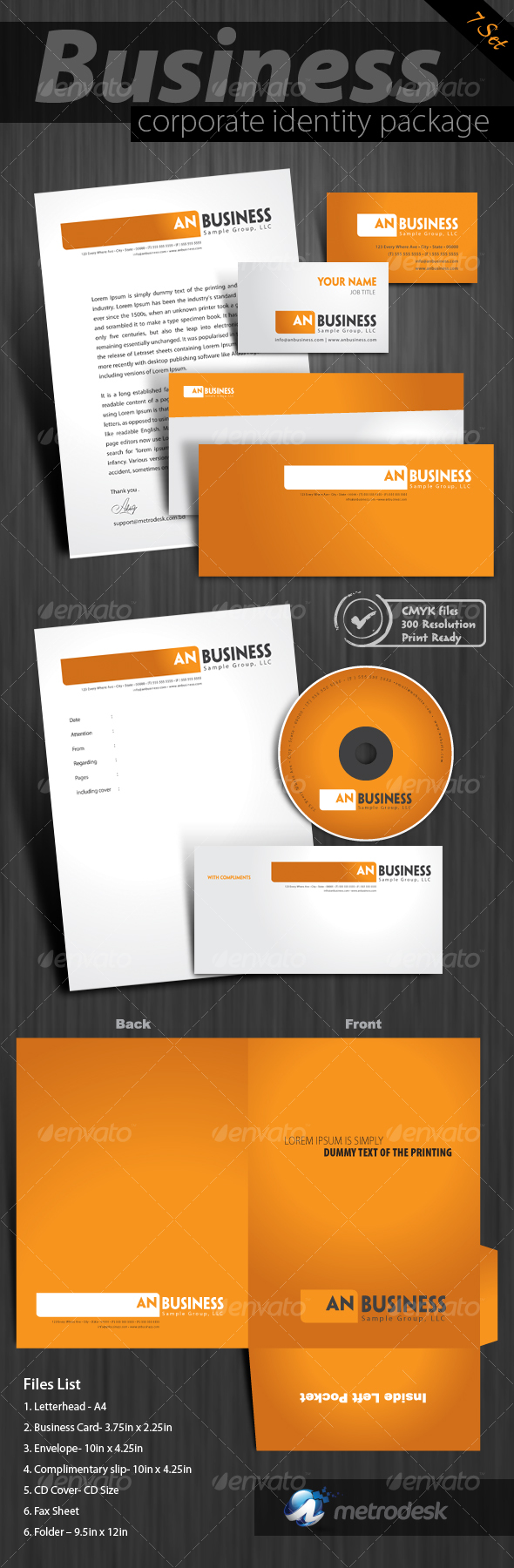 7-pack High quality print ready corporate identity - Stationery Print Templates