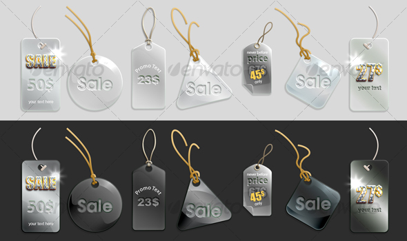 glassy tags - Web Elements
