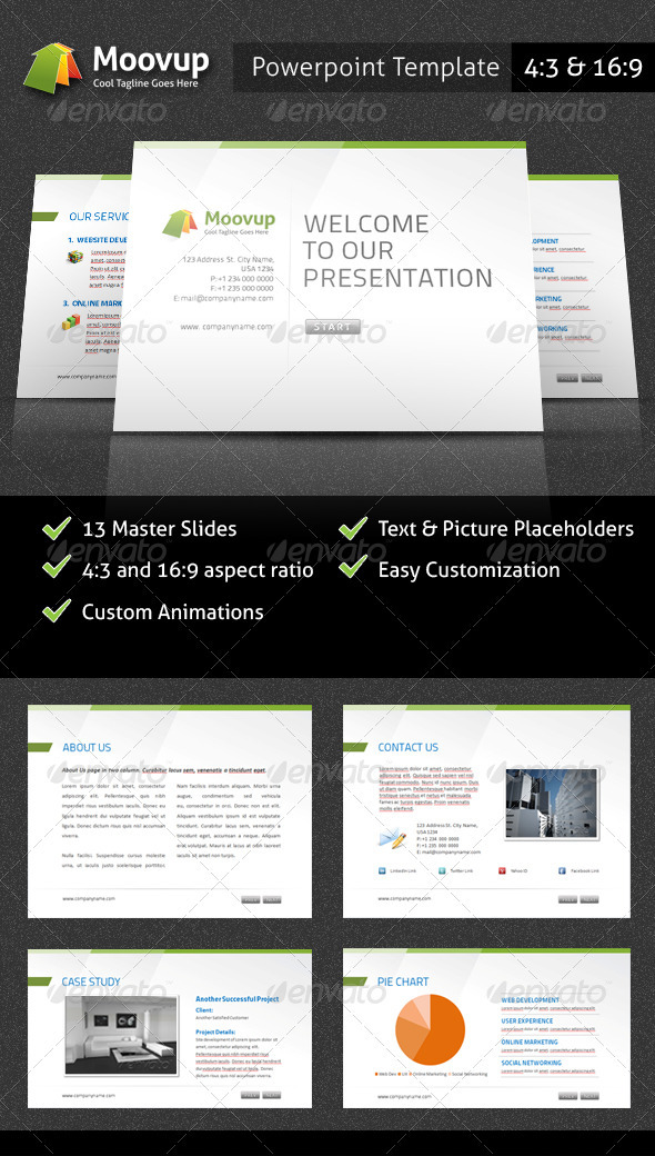 GraphicRiver Powerpoint Presentation Template Moovup 2197307