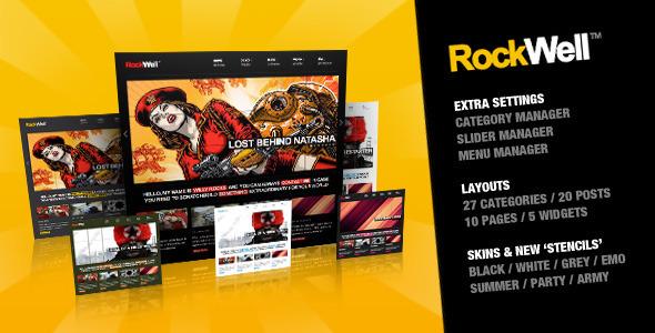 RockWell - Portfolio & Blog WordPress Theme - ThemeForest Item for Sale