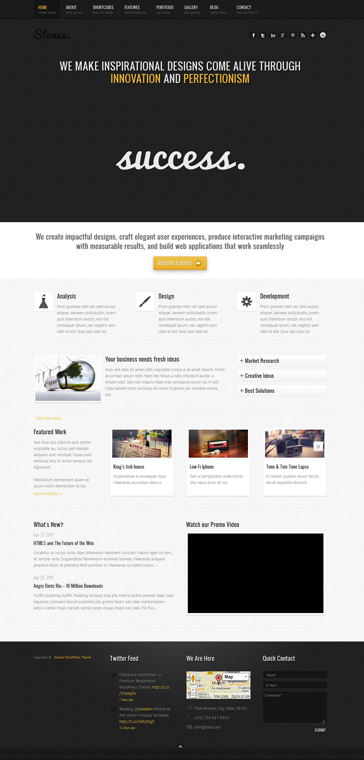 Stonex - Business Responsive WordPress Themed