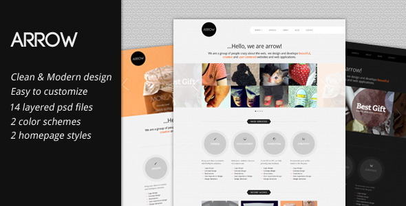 Arrow: Business Portfolio PSD Template - Portfolio Creative