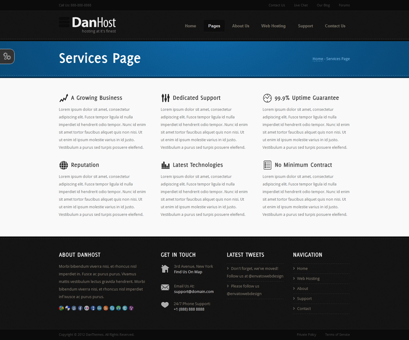 DanHost - Hosting Template