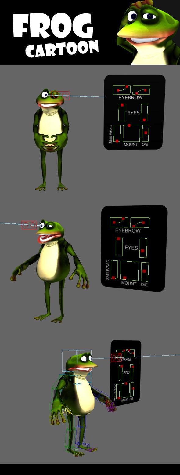 Frog Cartoon - 3DOcean Item for Sale