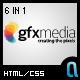 GFXMedia – Business & Portfolio Template 6 in 1  Free Download