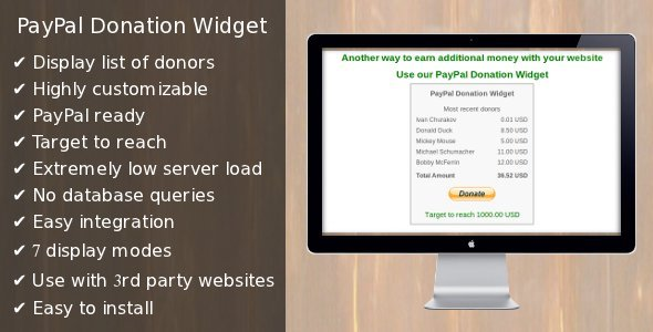 CodeCanyon PayPal Donation Widget 2195583