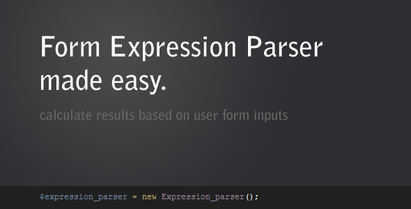 CodeCanyon Form Expression Parser 249431