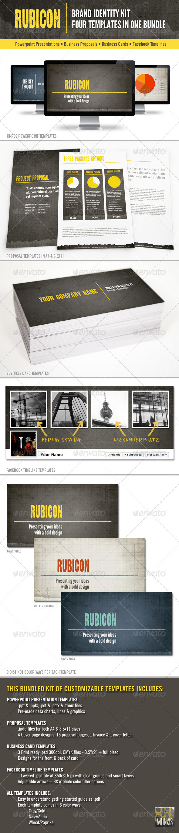 GraphicRiver Rubicon Branded Identity Kit Bundle 2201744