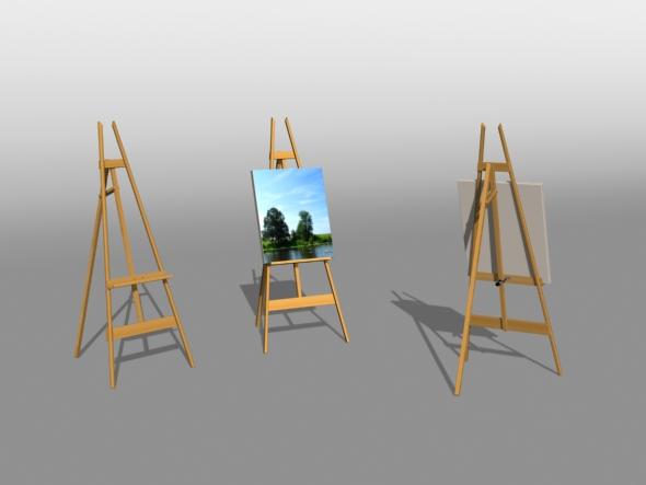 3DOcean Artist Easel 82534