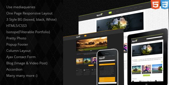Spyral - Responsive Single Page Template -