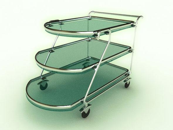 3DOcean Tea Trolley 81765