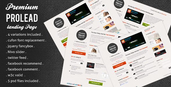 ThemeForest Prolead Landing Page 249624