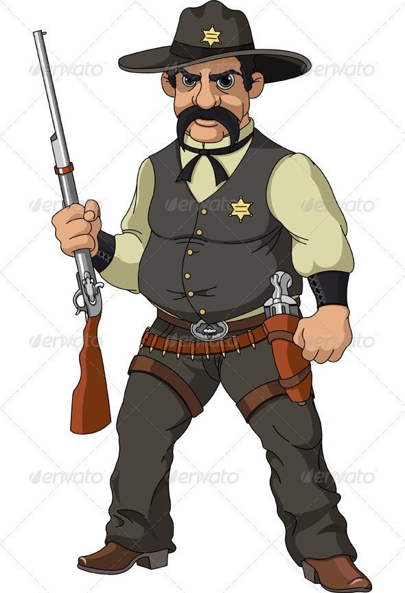 Wild West Cartoon