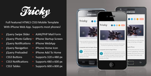 Tricky Mobile | HTML5 & CSS3 And iWebApp