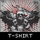 Winged Skull Band T-shirt - GraphicRiver Item for Sale